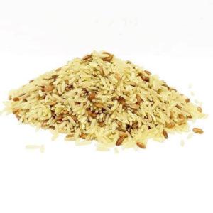 arroz agulhinha com vermelho