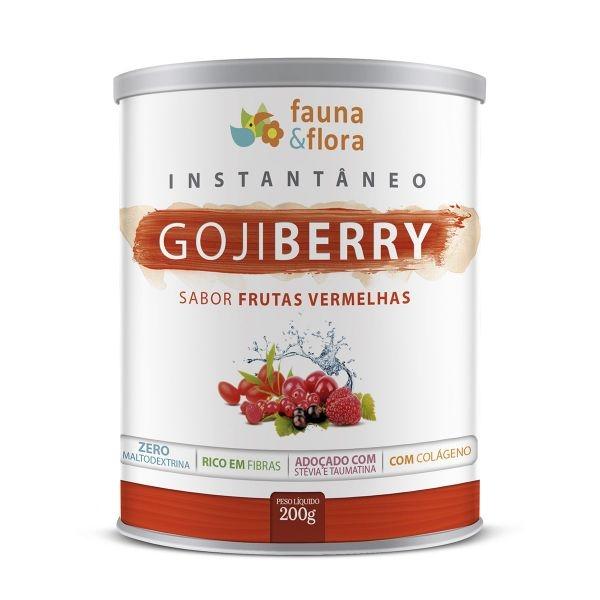 Goji Berry Instantâneo Sabor Frutas Vermelhas Fauna&Flora 200g-0